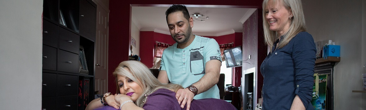 Couple at Hypnobirthing Session in Warwickhire